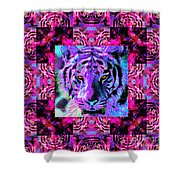Eyes of The Bengal Tiger Abstract Window 20130205p0 Shower Curtain by Wingsdomain Art and Photography