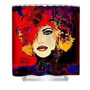 Face 14 Shower Curtain by Natalie Holland