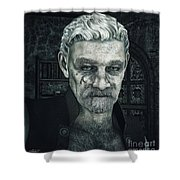 Face With A Story In It Shower Curtain by Jutta Maria Pusl