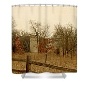 Fall Barn Shower Curtain by Margie Hurwich
