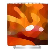 Fall Day Shower Curtain by Amy Vangsgard