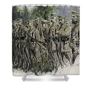 Fall in Norfolk Volunteers Shower Curtain by Frank Gillett