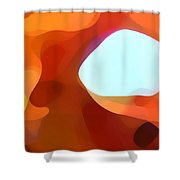 Fall Passage Shower Curtain by Amy Vangsgard