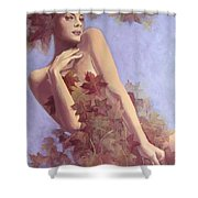 Fall...in Love... Shower Curtain by Dorina  Costras