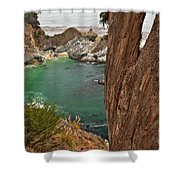Falling Into The Bay Shower Curtain by Adam Jewell