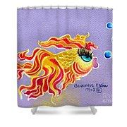 Fancytail Goldfish Shower Curtain by Genevieve Esson