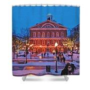 Faneuil Hall Holiday- Boston Shower Curtain by Joann Vitali