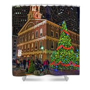 Faneuil Hall Night Shower Curtain by Joann Vitali