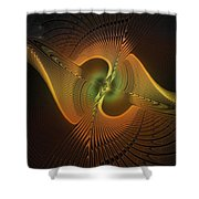Fanned Out Shower Curtain by Amanda Moore