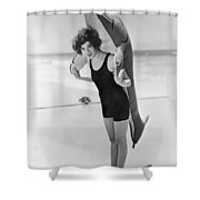 Fanny Brice And Beach Toy Shower Curtain by Underwood Archives