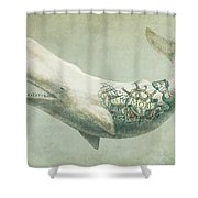 Far And Wide Shower Curtain by Eric Fan