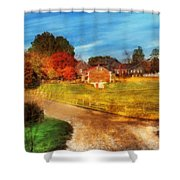 Farm - Barn -  A Walk In The Country Shower Curtain by Mike Savad