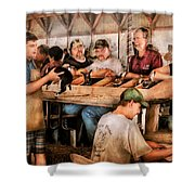 Farm - Farmer - By The Pound Shower Curtain by Mike Savad