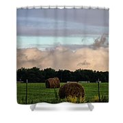Farm Field Drama Shower Curtain by Dan Sproul