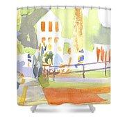 Farmers Market II Shower Curtain by Kip DeVore