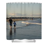 Father And Son Shower Curtain by Melissa McCrann