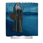 Father Christmas Shower Curtain by Darice Machel McGuire