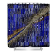 Fault Line Blues Shower Curtain by Tim Allen