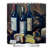Feast Still Life Shower Curtain by Donna Tuten