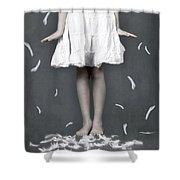 feathers Shower Curtain by Joana Kruse
