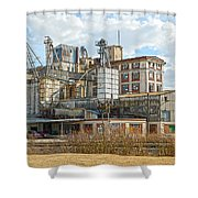 Feed Mill Hdr Shower Curtain by Charles Beeler