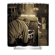Feeding The Beast Shower Curtain by Edward Fielding