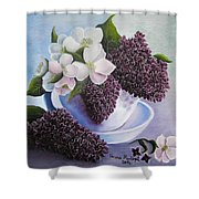 Feel The Fragrance Shower Curtain by Vesna Martinjak