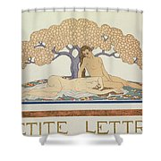 Female Nudes Shower Curtain by Georges Barbier