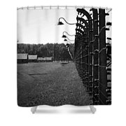 Fence Of Death Shower Curtain by Mountain Dreams