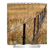 Fenced Off Shower Curtain by Justin Woodhouse