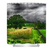 Fenced Out Shower Curtain by Ryan Crane