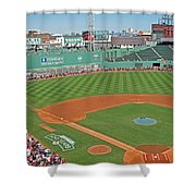 Fenway One Hundred Years Shower Curtain by Barbara McDevitt