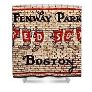Fenway Park Boston Redsox Sign Shower Curtain by Bill Cannon