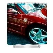 Ferrari In Red Shower Curtain by Paul Ward