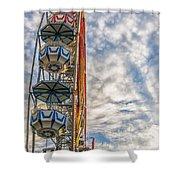 Ferris Wheel Shower Curtain by Antony McAulay