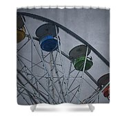 Ferris Wheel Shower Curtain by Dave Gordon