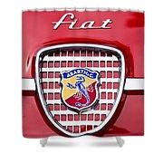 Fiat Emblem 2 Shower Curtain by Jill Reger
