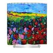 Field Flowers Shower Curtain by Pol Ledent
