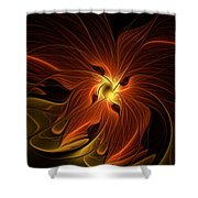 Fiery Shower Curtain by Amanda Moore