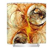 Fiery Birth Shower Curtain by Anastasiya Malakhova