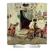 Figaro's Shop Shower Curtain by Jose Jimenes Aranda