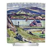 Figure And Kirk   Iona Shower Curtain by Francis Campbell Boileau Cadell