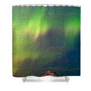 Filled With Aurora Shower Curtain by Ron Day