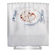 Finished Plate Shower Curtain by Joana Kruse