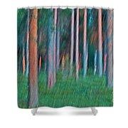 Finland Forest Shower Curtain by Heiko Koehrer-Wagner