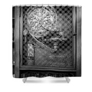 Fire Hose Bw Shower Curtain by Susan Candelario
