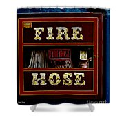 Fire Hose Shower Curtain by Cheryl Young