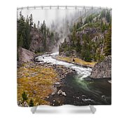 Firehole Canyon - Yellowstone Shower Curtain by Brian Harig