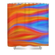 Firelight Shower Curtain by Daina White