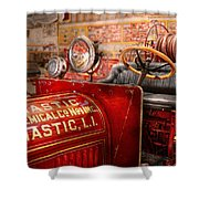 Fireman - Mastic Chemical Co Shower Curtain by Mike Savad